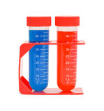 Red Blue Test Tubes Stock Image