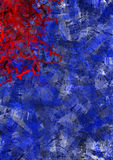 Red and blue textures Stock Photos
