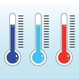 Red and blue Thermometer icon vector eps10. Thermometer icon. Goal flat vector illustration on isolated background. stock illustration