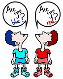 Red and blue think Royalty Free Stock Photos