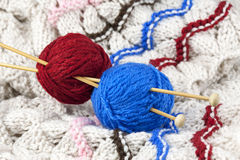 Red and blue threads Royalty Free Stock Photos
