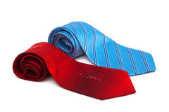 Red and blue ties Stock Photo