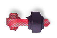 Red and blue ties Stock Images