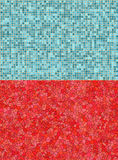 Red and blue tile backgrounds. A pair of red and blue tiled backgrounds vector illustration