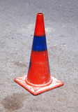 Red and blue traffic cone Stock Photos