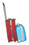 Red and blue travel luggage Royalty Free Stock Images