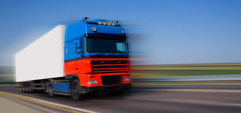 Red blue truck Royalty Free Stock Photo