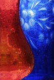 Red and blue vase. On sun Royalty Free Stock Photography