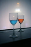 Red and blue vodka drink Royalty Free Stock Photography