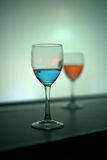Red and blue vodka drink Stock Images