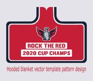Man`s Stanley Cup hooded blanket tamplate pattern design of hockey trophy. royalty free illustration