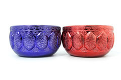 Red blue Water bowl Royalty Free Stock Photos