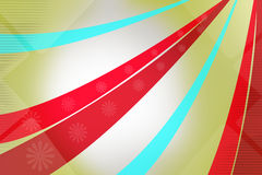 red and blue wavy stripe with floral design, abstract background Stock Photography