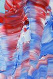 Red blue and white acrylic painting Royalty Free Stock Image
