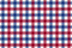 Red blue white check plaid texture seamless pattern background. Vector illustration vector illustration