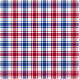 Red blue white check texture seamless pattern Stock Photos