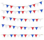 Red blue white flag decorated on  white background. A red blue white flag decorated on  white background Royalty Free Stock Photography
