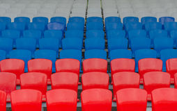Red-blue-white grandstand Stock Image