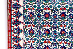 Red-blue-white mosaic tiles, horizontal view Stock Photo