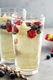Red, blue and white sangria Stock Image