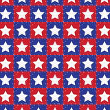 Red and blue with white stars. Seamless pattern in red and blue with white stars royalty free illustration