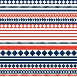 Red blue and white stripes pattern background Stock Images