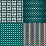 Red blue winter patterns Royalty Free Stock Images