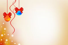 Red and blue xmas lights, abstrack background Stock Images