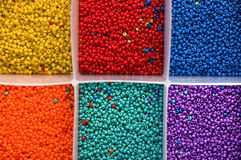 Red Blue Yellow Beads Royalty Free Stock Photo