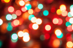 Red Blue Yellow bokeh Royalty Free Stock Images