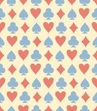 Red, blue and yellow playing card seamless vector pattern royalty free illustration