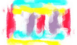 Red blue yellow and purple painting abstract Stock Photo