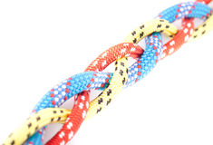 Red blue yellow rope braid Royalty Free Stock Image