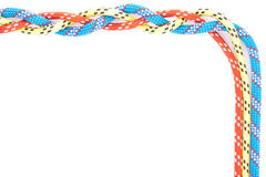 Red blue yellow rope braid Stock Photos