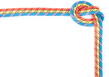 Red blue yellow rope knot Stock Images