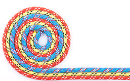 Red blue yellow rope spiral Stock Photo