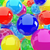 Red blue yellow spheres Royalty Free Stock Photos