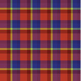 Red blue yellow tartan Scottish plaid Background pattern vector Stock Photo