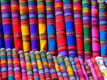 Red Blue and Yellow Textile Stock Images
