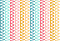 Red blue yellow triangle pattern. Funny seamless vector background. Happy red blue yellow triangle seamless vector background Stock Photography