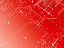 Red blueprint Royalty Free Stock Images