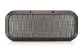 Red Bluetooth Speaker. Red Bluetooth Wireless Speaker on white background Stock Photography