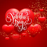 Red  Blur Hearts Valentine day background. Vector Royalty Free Stock Photography