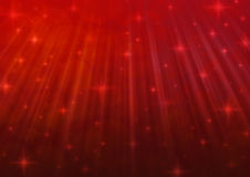 Red blur light with shiny starry Stock Photography