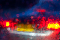 Red blurred abstract background Stock Photo