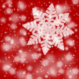 Red blurry snowflake background Stock Image