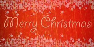 Red blurry xmas textured background Stock Images