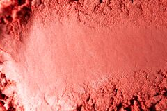 Free Red Blush Close-up Texture With Selective Focus. Macro Makeup Product. Beauty Background Royalty Free Stock Photo - 175143605