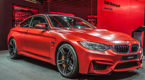 Red BMW M4 Royalty Free Stock Images
