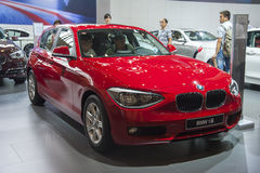 Red bmw 1 series car Royalty Free Stock Image